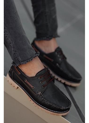 Muggo  M21 Loafer Erkek Ayakkabı Siyah